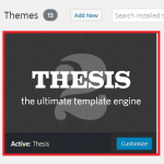 Upgrade ti new Thesis theme via manual upload